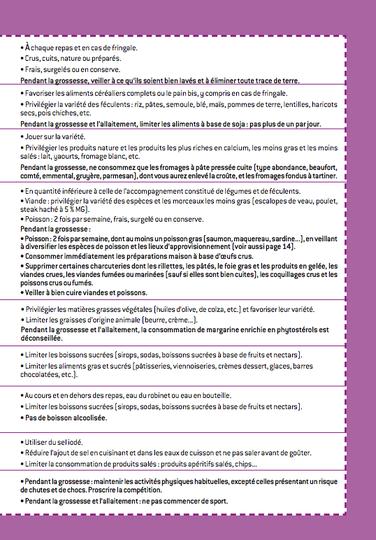 Réseau Périnatal de Nouvelle-Calédonie - Repères nutritionnels pendant la grossesse