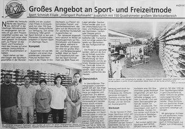 """Eröffnung Profimarkt im Einkaufscenter """"La Piazza"""" in 1999"""