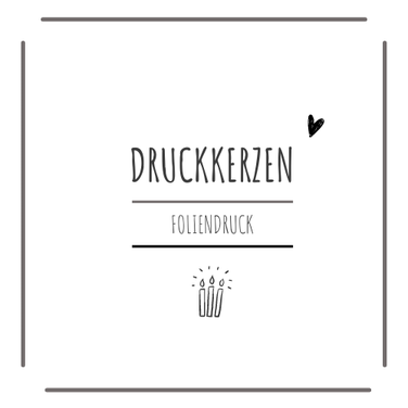 Gedruckte Taufkerzen Geburtskerzen aus Düsseldorf