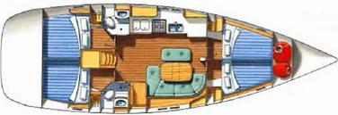 sailing yacht Beneteau Oceanis 461, 4 cabin sailing yacht, yacht charter croatia, yacht rent, bareboat, rent yacht, sailiing in croatia, yacht charter suksoan