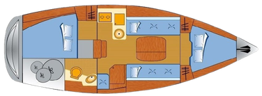 Bavaria 31 cruiser, Segelyacht, 2 Kabinen, Yachtcharter Kroatien, Marina Dalmacija, Sukosan, Nautic Adria, Yacht mieten