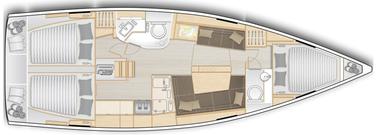 Segelyacht, Hanse 388, 3 Kabinen, Yachtcharter Kroatien, Suksoan, Nautic Adria