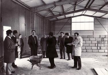 Baustellenbesichtigung neuer Bauhof durch Bürgermeister Barth