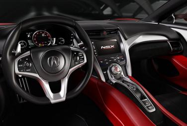 新型NSXの運転席