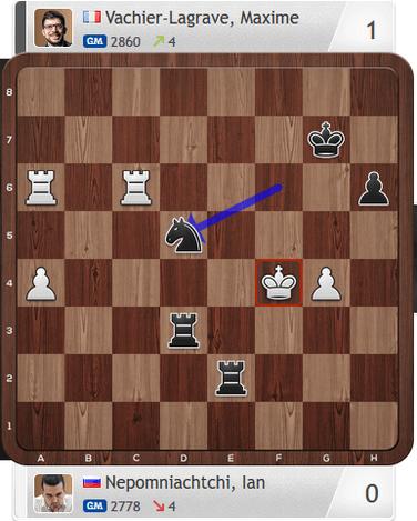 Nepomniachtchi-Vachier-Lagrave, Partie 1, Magnus Carlsen Invitational