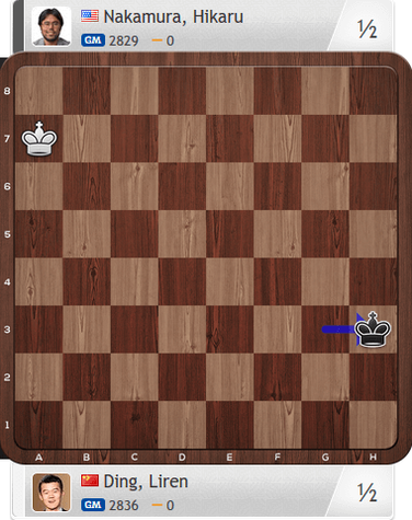 Ding-Nakamura, Partie 2, Magnus Carlsen Invitational