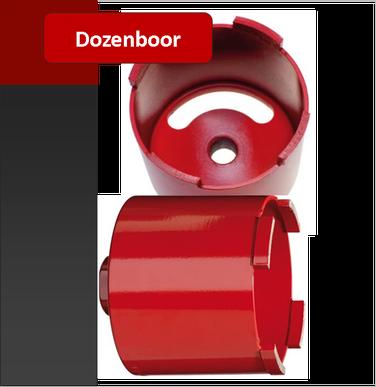 dozenboor of klokboor voor het boren in gevelsteen. deze boren worden gebruikt bij het installeren van elektriciteit potten voor het inbouwen van schakelaars en stopcontacten
