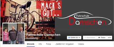 Facebook Titelbild im Corporate Design für Fahrschule Damschen