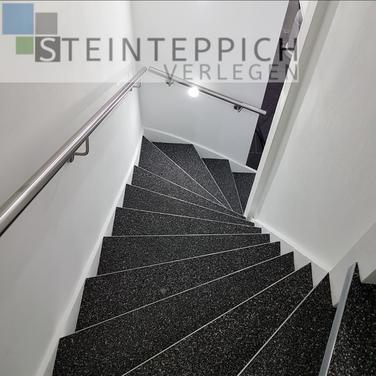 Steinteppich Treppe renovieren, sanieren oder neu belegen