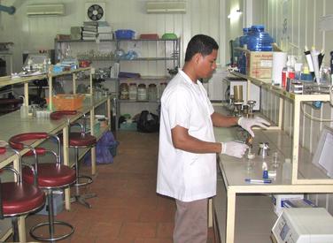 Water quality testing laboratory at RDI - Cambodia