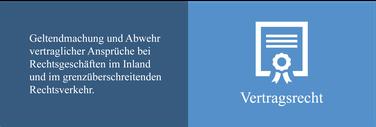 Geltendmachung und Abwehr vertraglicher Ansprüche bei Rechtsgeschäften im Inland und im grenzüberschreitenden Rechtsverkehr
