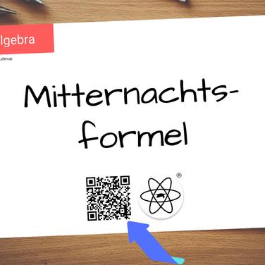 Mathe Spickzettel mit QR-Code