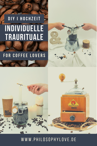 Mit der Kaffeemühle Kaffee mahlen als Trauritual, Kaffeebohnen zusammenschütten als Trauritual, Ideen für Traurituale für die Freie Trauung