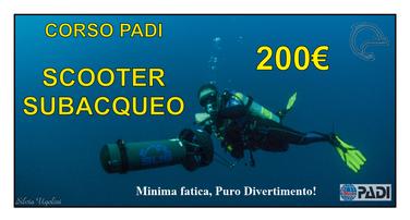 corso scooter subacqueo PADI