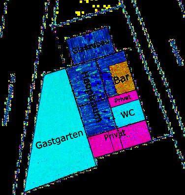 Skizze: Raumaufteilung Feigencafe