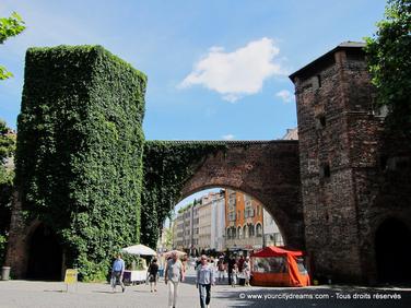 découvrir Munich - la Sendlingertor débouche sur la zone piétone
