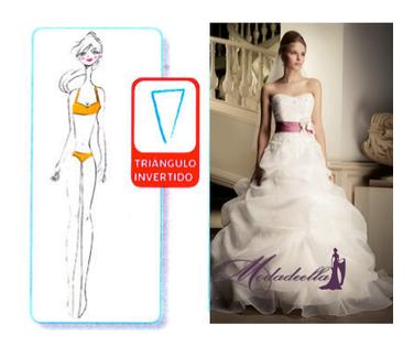 vestido de novia para figura de cuerpo v triangulo invertido
