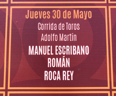 Toros d'Adolfo Martin pour Manuel Escribano, Roman et Andres Roca Rey