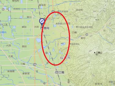 纏向遺跡地図1