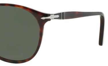 Occhiali da sole uomo Persol Modello: 9649S. Colore: 24/31 tartarugato. Colore lenti: verde. Calibro 52-18, 55-18. Forma: Pilot. Materiale: plastica. Protezione UV 100%