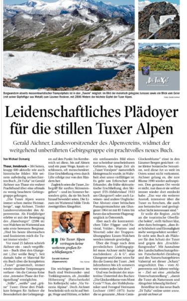 Tiroler Tageszeitung, Jän. 2021