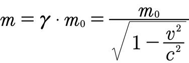 Formel für die relativistische Masse