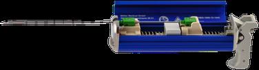 Wiederverwendbares, automatisches Biopsieinstrument RBG-1000 für die Verwendung mit Einmalbiopsiekanülen zur Gewinnung von Weichteilgewebe