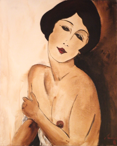 Olivier Tramoni - Galerie MANCEAU - Hommage à Modigliani