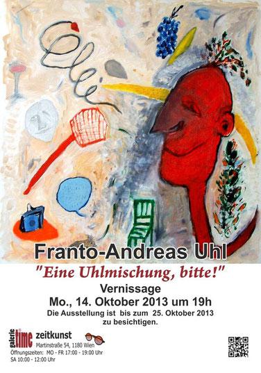 Galerie Time Günther Wachtl Franto Andreas Uhl Eine Uhlmischung bitte Vernissage Köpfe