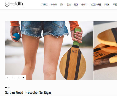 Heldt über Frescobol von Salt on Wood