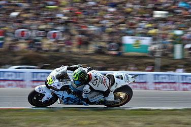 Cal Crutchlow auf seiner Honda in der MotoGP in Brünn