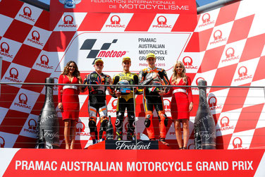 Moto2 Podium 2015 in Australien