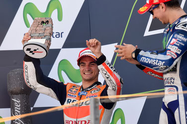 Dani Pedrosa kann sich zurecht über sein Podest bei der MotoGP in Aragon freuen