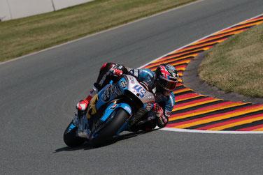 Volle Schräglage: Scott Redding in der MotoGP am Sachsenring