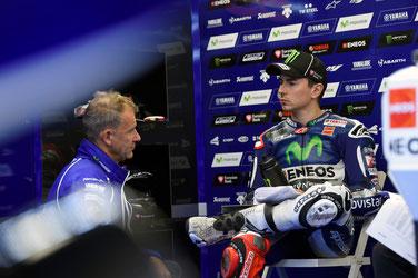 Im MotoGP Rennen in Silverstone gab es wenig zu Lachen für Jorge Lorenzo.