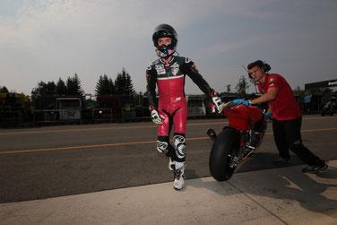 Ein Ergebnis zum davonlaufen? Nein. Jonas Folger als bester Deutscher Pilot der Moto2 in Brünn auf Platz sechs.