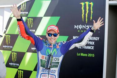Jorge Lorenzo feiert seinen Sieg in Le Mans