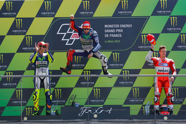 Das MotoGP Podium in Le Mans 2015