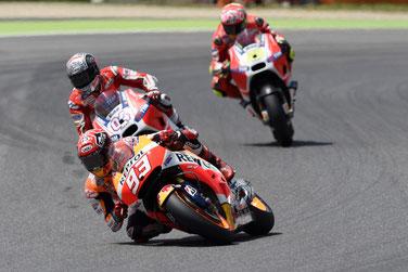 Marc Marquez im Kampf um die Plätze in der MotoGP in Mugello