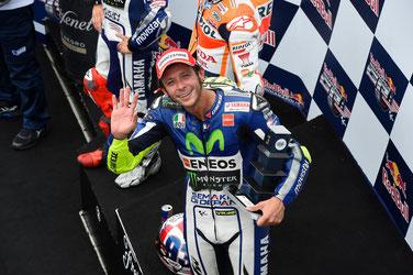 Hallo Herr Rossi. Zum 14. Mal in Folge auf dem MotoGP Podest: Valentino Rossi