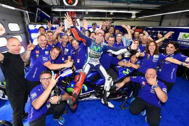 Jorge Lorenzo bejubelt seinen MotoGP Triumph in Mugello