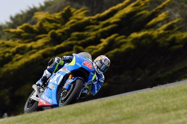 Maverick Vinales in der MotoGP in Australien für Suzuki 2015