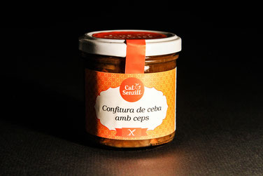 Onion and bolettus confiture