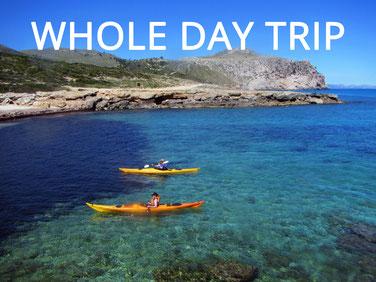 kayak guided trip mallorca