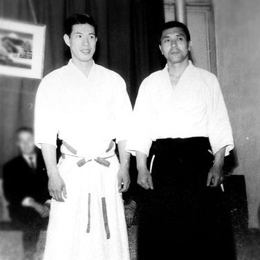 ---> Masamichi Noro et Mutsuharu Nakazono à Paris en 1965