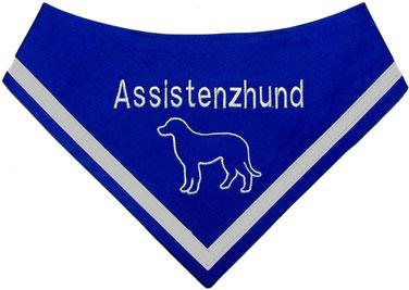 Hundehalstuch bestickt,Assistenzhund,Therapiehund, Begleithund