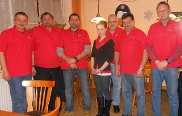 Ortsratsmitglieder mit Janine Fuchs