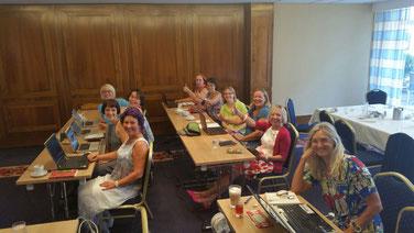 Begeisterte Seminar-Teilnehmerinnen