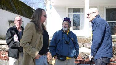 (L-R) Terry Kuntz, Rob Kuntz, John Bobek and Bill Hoyer (RIP) at Gary Con, Lake Geneva (WI).
