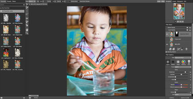 User Interface of perfect Effects 9, editing photos software
